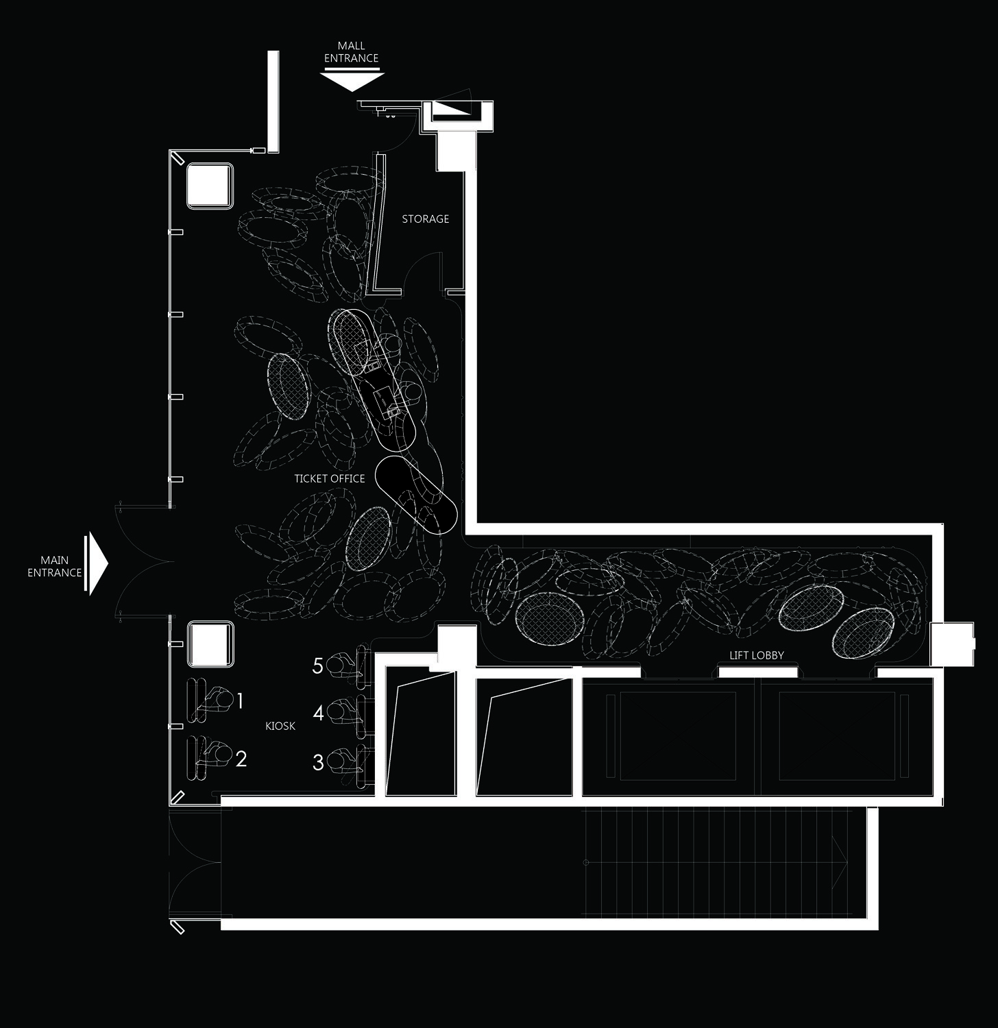 Layout plan of Hangzhou Kerry Centre Premiere Cinemas }