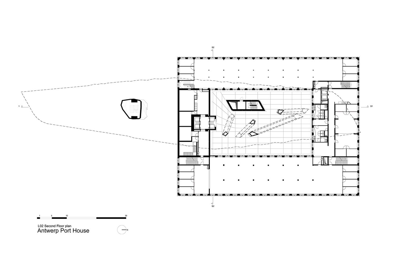 Second Floor Plan Zaha Hadid Architects}