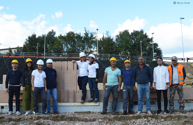 Team H.E.L.P. 6.5 e Hiroto Kobayashi Lab in visita al cantiere  Rihoko Hiraki