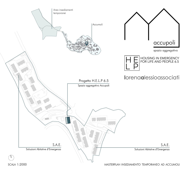 Progetto H.E.L.P. 6.5 - Masterplan insediamento temporaneo ad Accumoli H.E.L.P. 6.5 e lorenaalessioassociati}