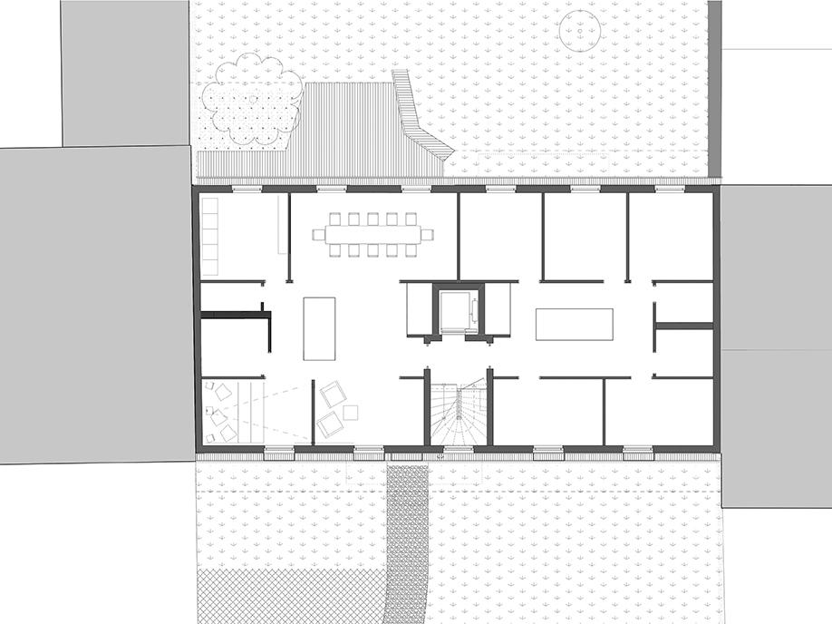 Floor Plan first floor SEHW Architektur}