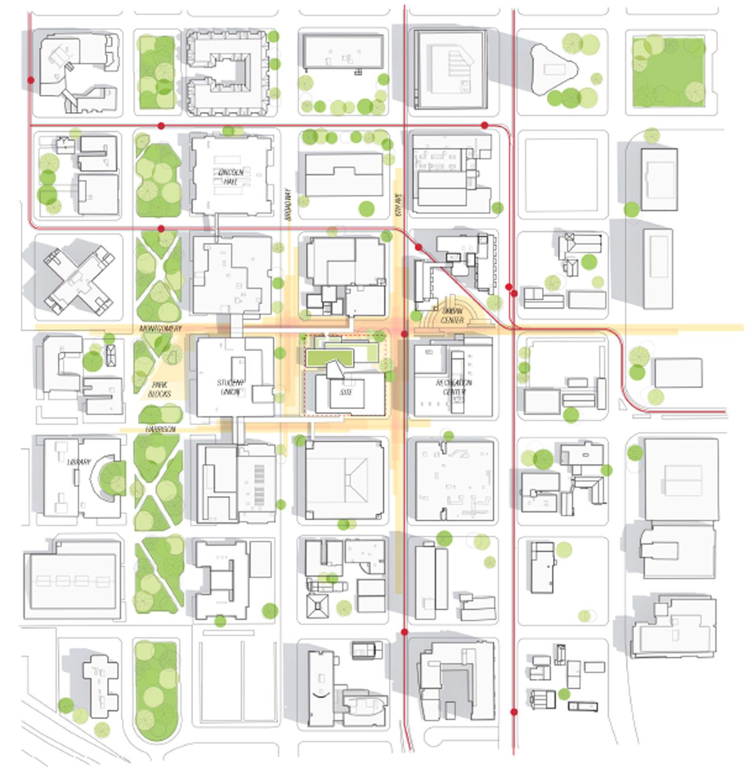 Karl Miller Center site plan Behnisch Architekten}