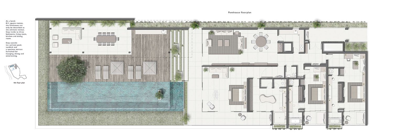Penthouse Floor Plan }