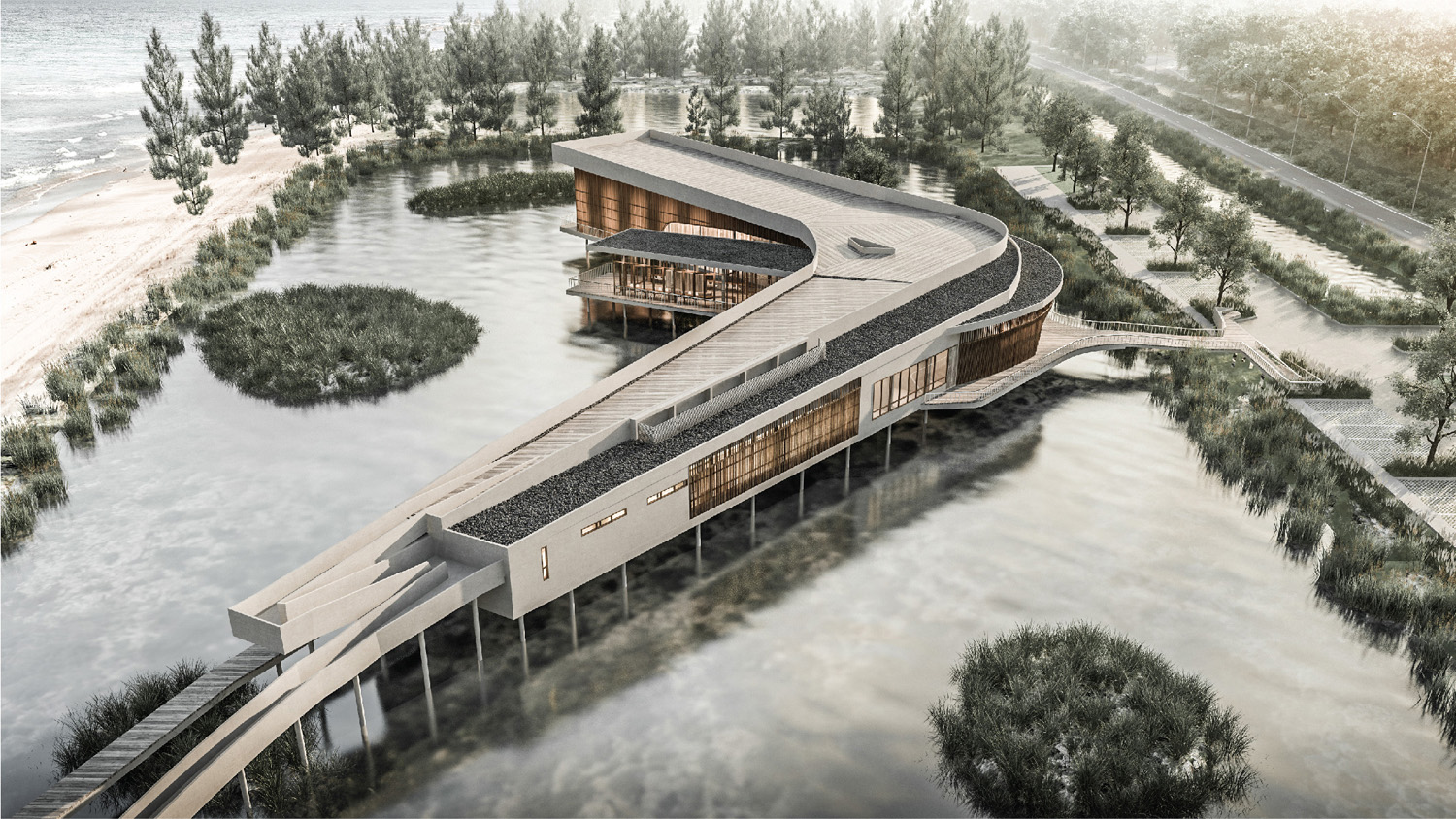 The Community Center that revive the abandoned water body Vaslab