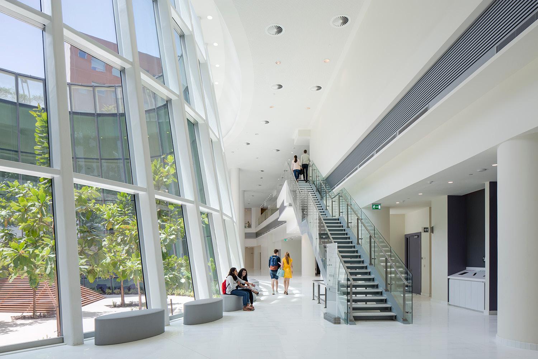 Indoor common area, showing inner courtyard