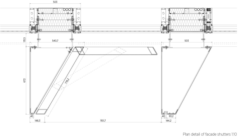 Plan detail_shutters C.F. Møller Architects}