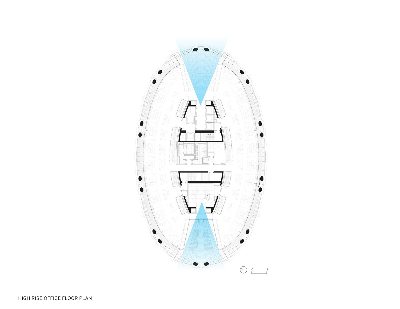 High Rise Office Floor Plan }