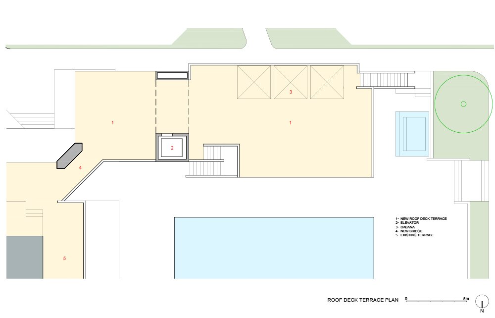 Plan Roof Deck }