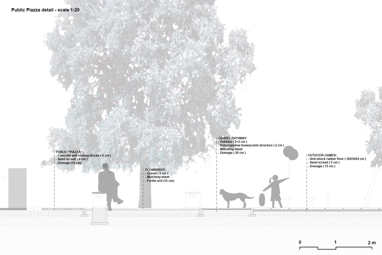 Public piazza detail PERALTA - design & consulting}