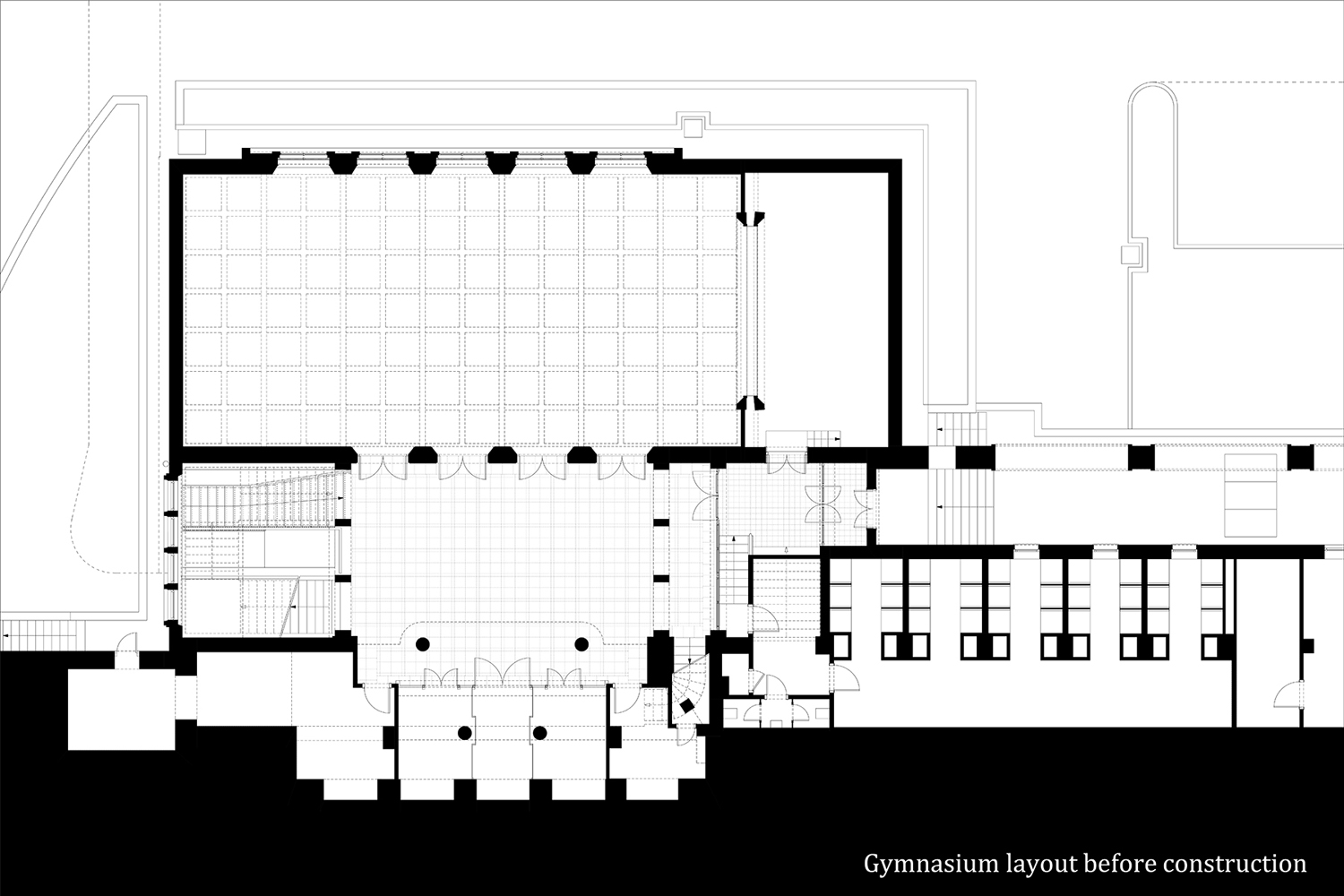 Layout before construcion }