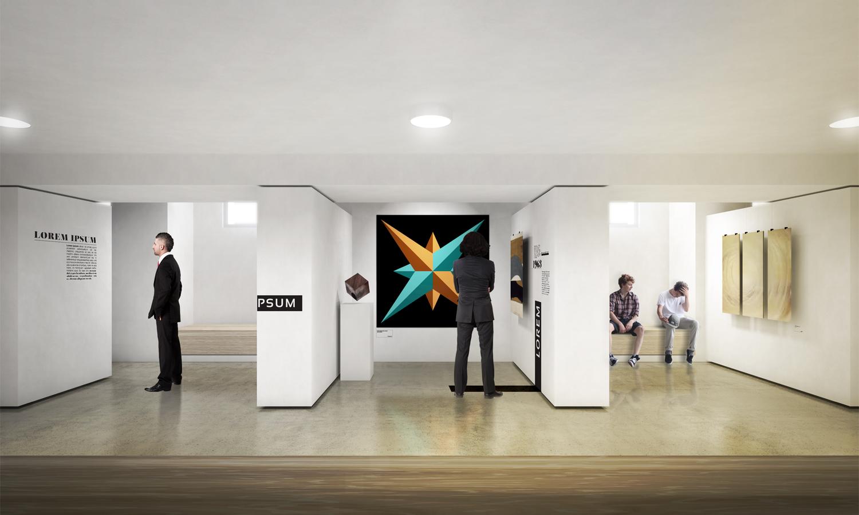 Art gallery rendering }