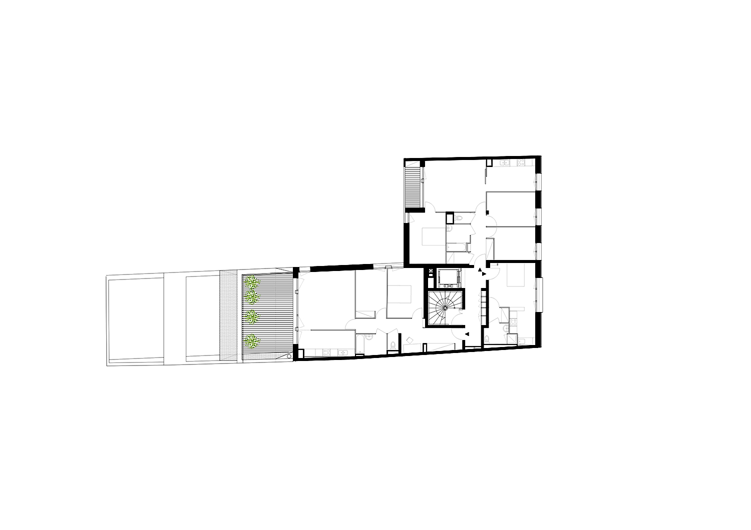 Fourth floor plan }