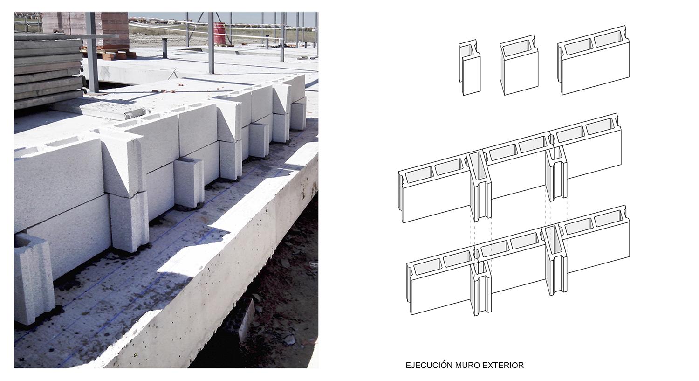 Concrete blocks. Façade concept. Contextos de Arquitectura y Urbanismo}