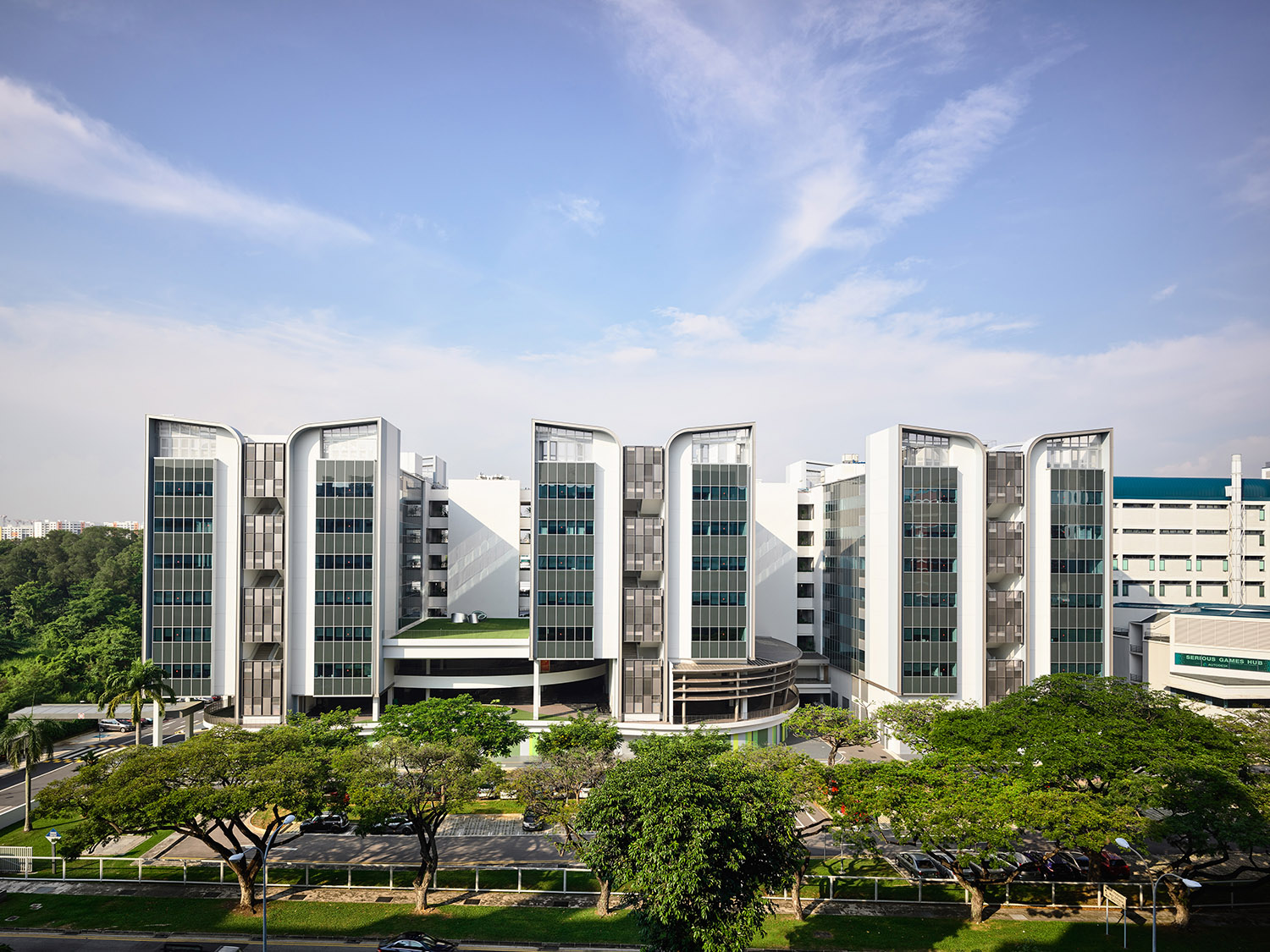 Elevation of East Wing facing Tampines Avenue 1