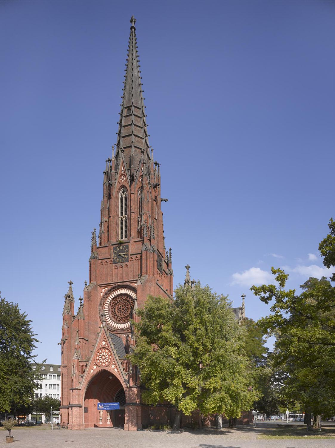 Brick church from outside