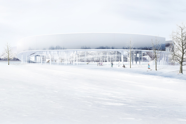 Memorial Exterior View 3D Visualization: Heeseung Choi / A+U Lab