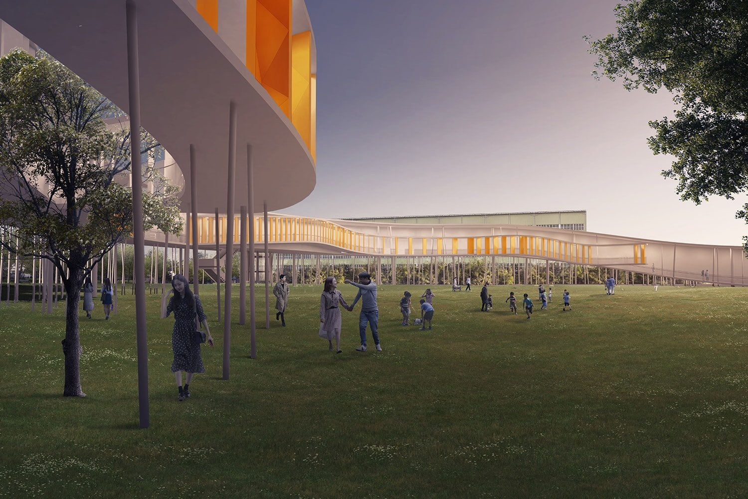 View from Memorial Park 3D Visualization: Heeseung Choi / A+U Lab