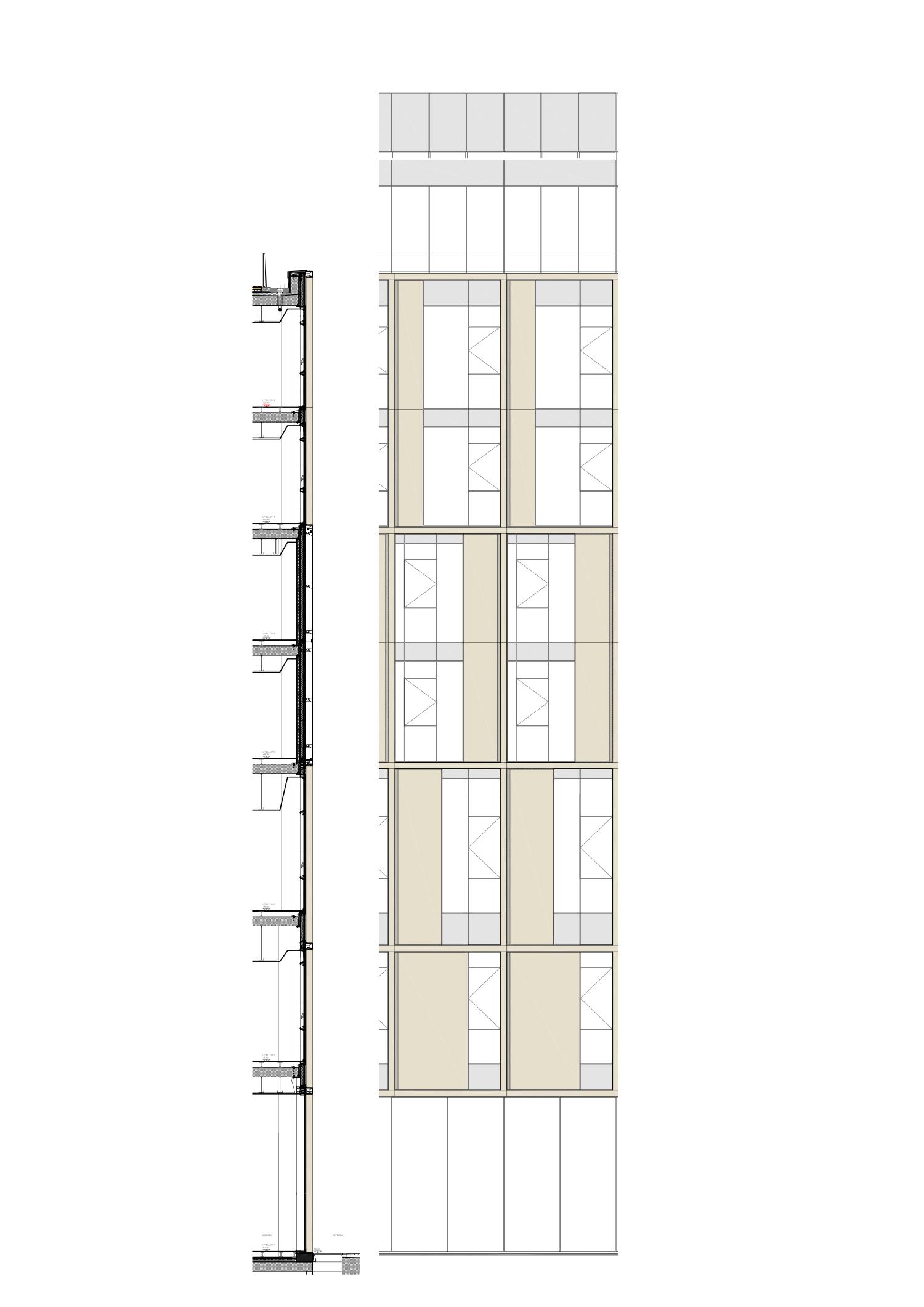 dettaglio facciata esterna Iotti+Pavarani Architetti, Artecna}