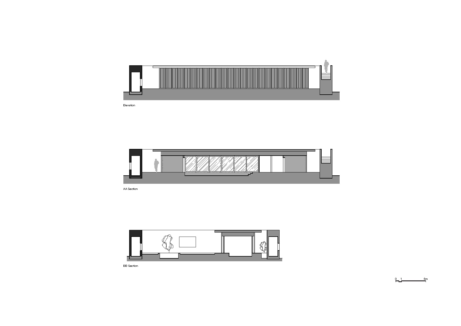 Reception Elevation & Sections Neri&Hu Design and Research Office}