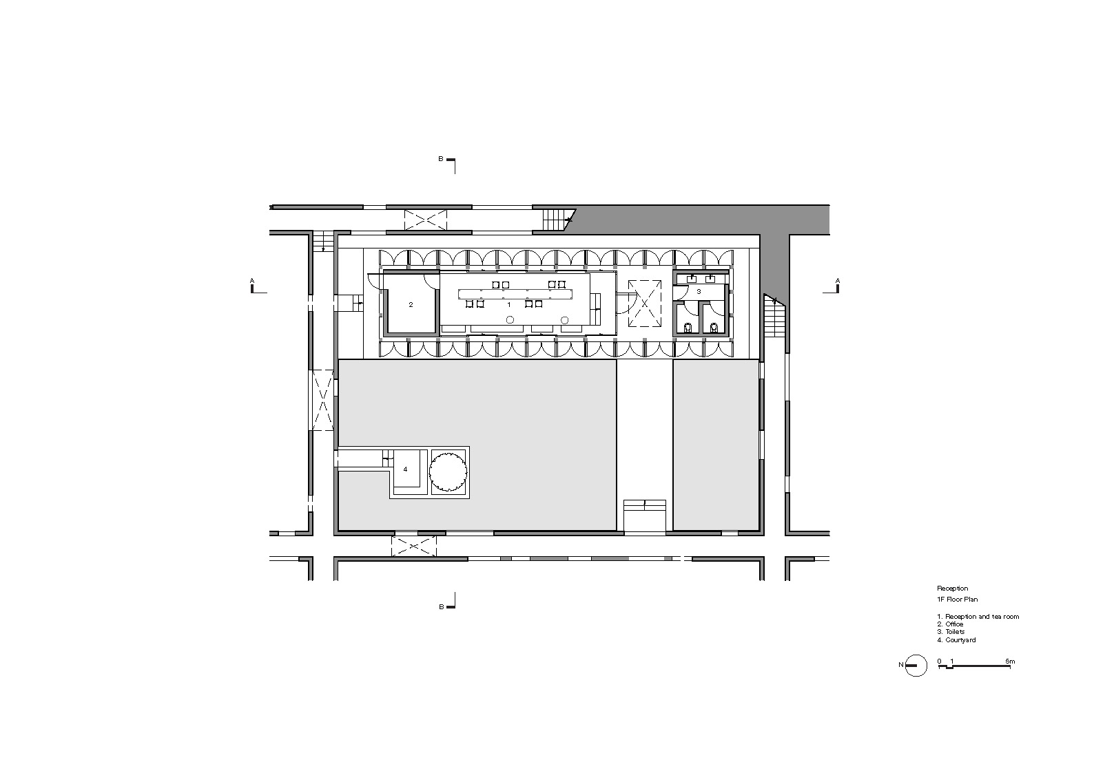 Reception Floor Plan 1F Neri&Hu Design and Research Office}