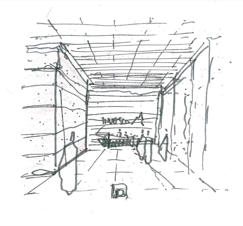 Reception interior - schizzo Lombardini22 S.p.A}