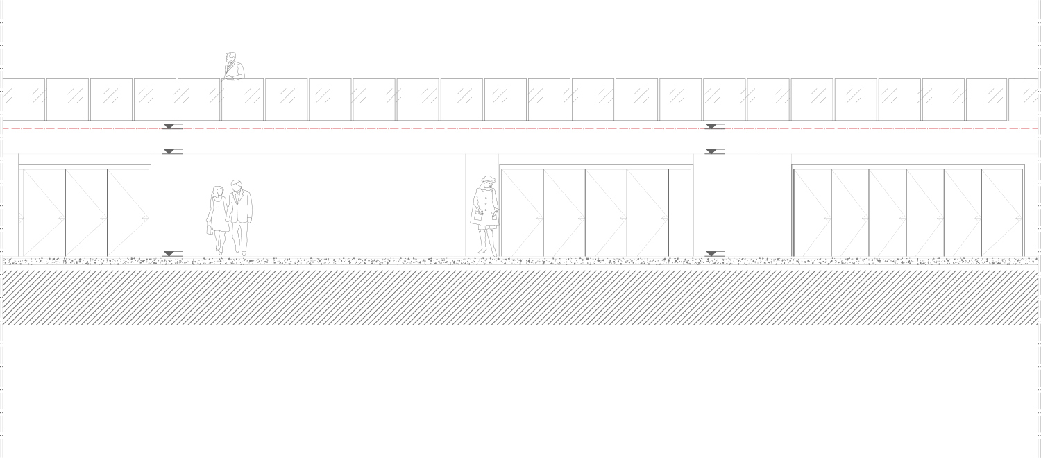 Commercial Units / Viewing Terrace South Elevation Antalya Metropolitan Municipality Archive}