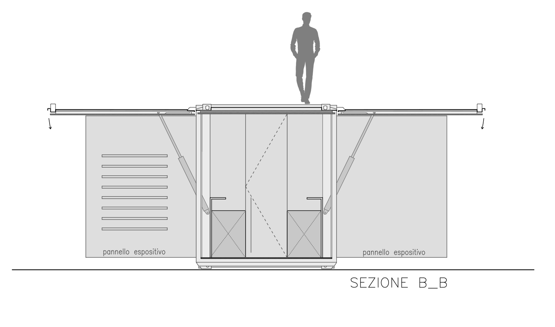 sezione longitudinale B-B Arch. Salvatore Terranova - Ing. Arch. Giorgia Testa}