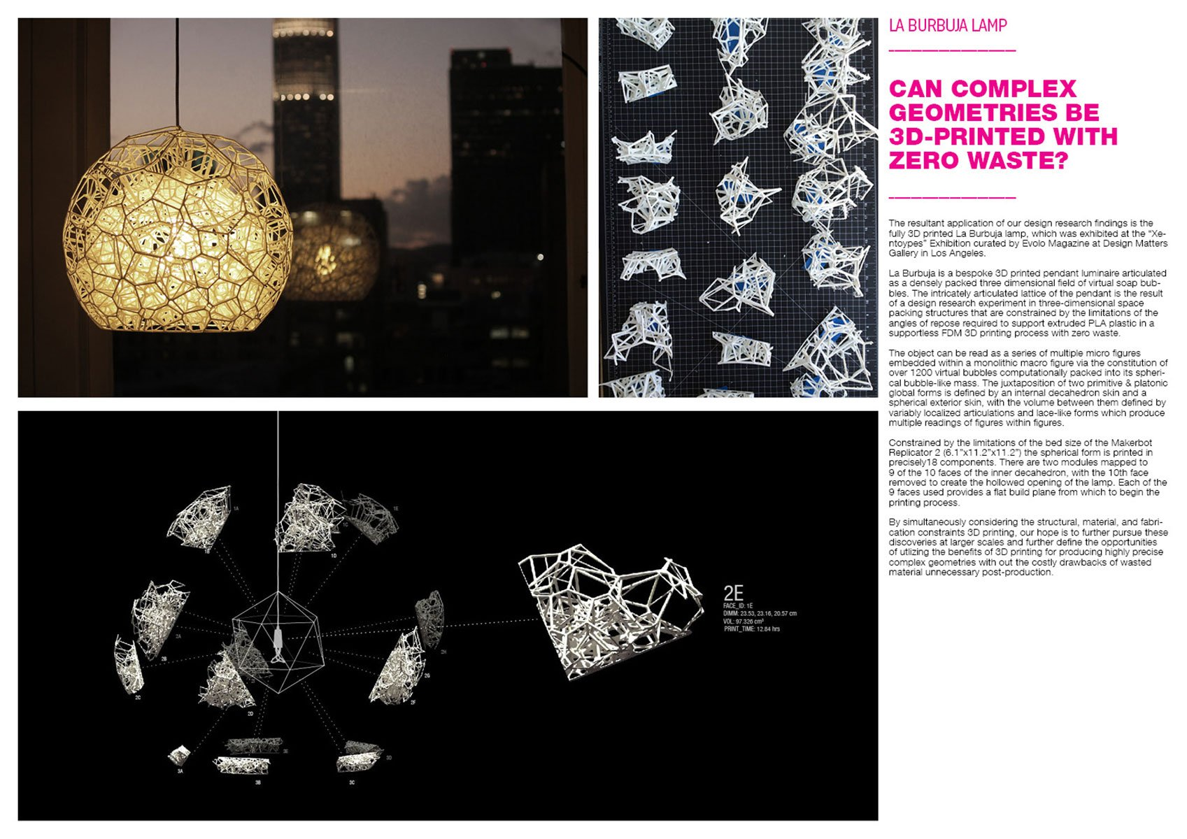 Can complex geometries be printed with zero waste? }
