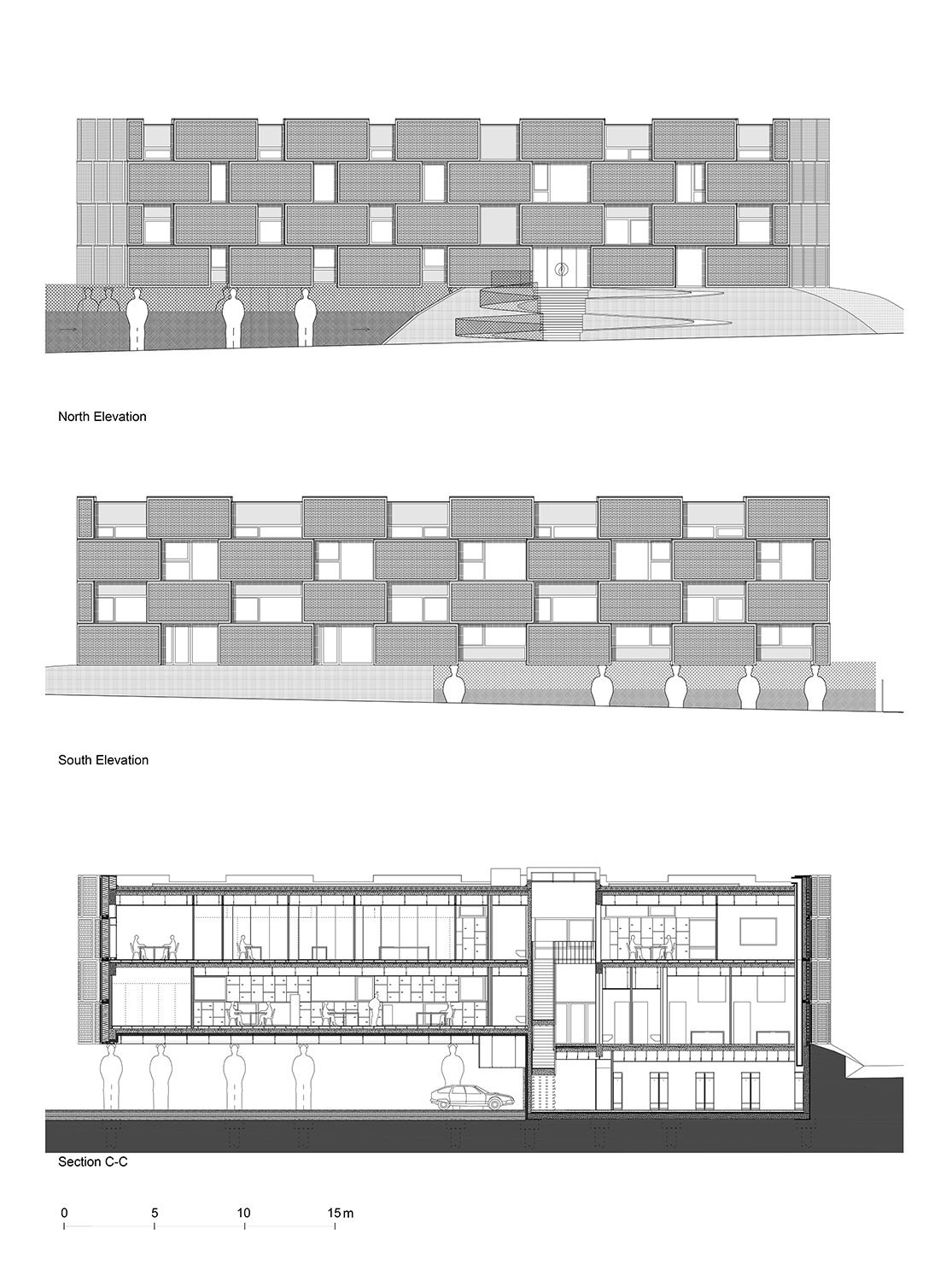 Long Sections & Elevations ORG Permanent Modernity}
