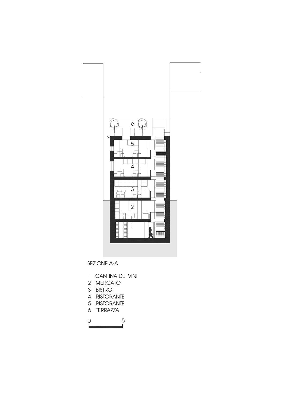 Sezione AA Roland Baldi architects}