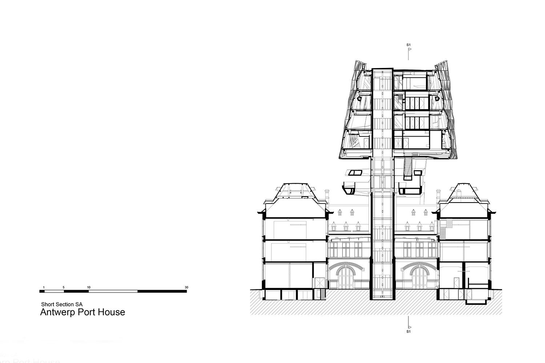 Short section Zaha Hadid Architects}