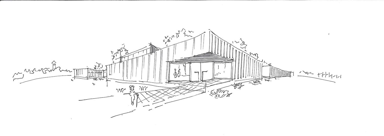 Exterior sketch Contextos de Arquitectura y Urbanismo}