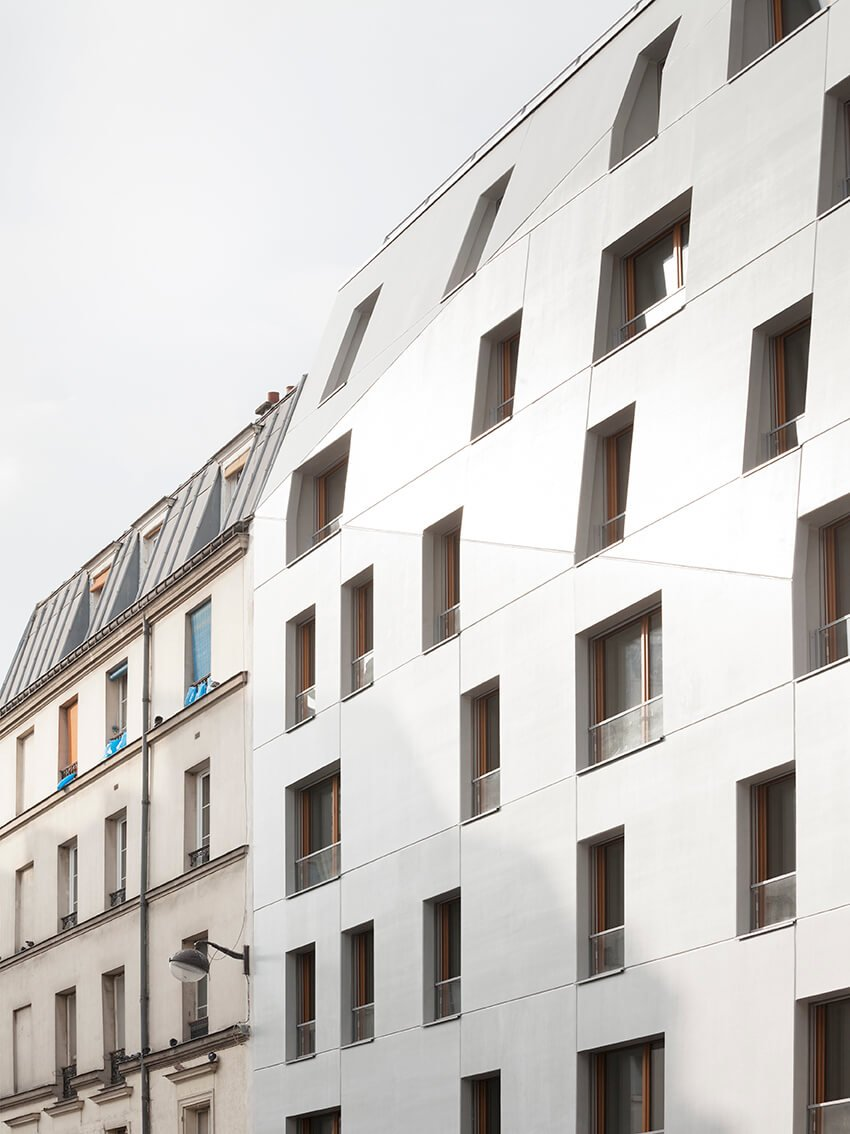 14 housing units + 1 retail space – rue Saint Maur, Paris 10