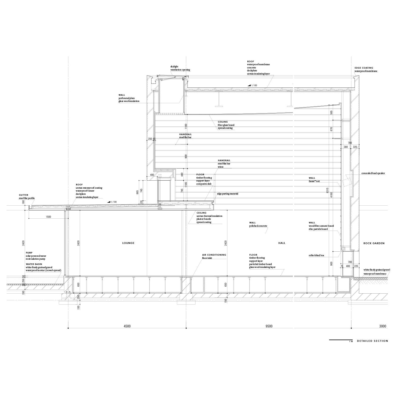 Detailed section Satoshi Okada architects Inc.}