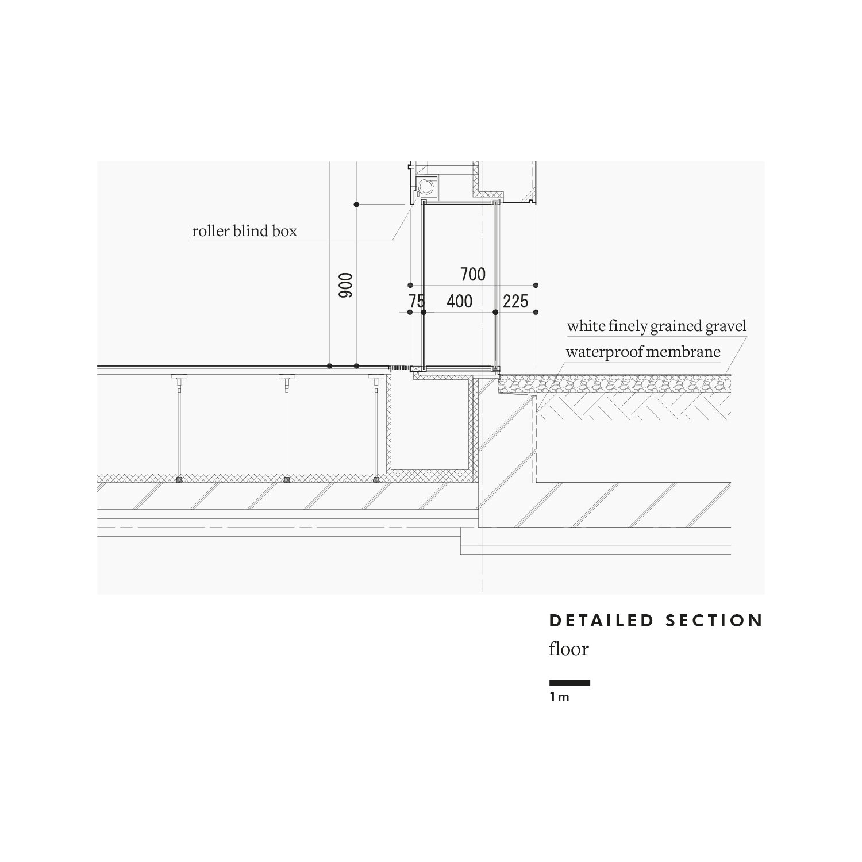 Detailed section: floor Satoshi Okada architects Inc.}