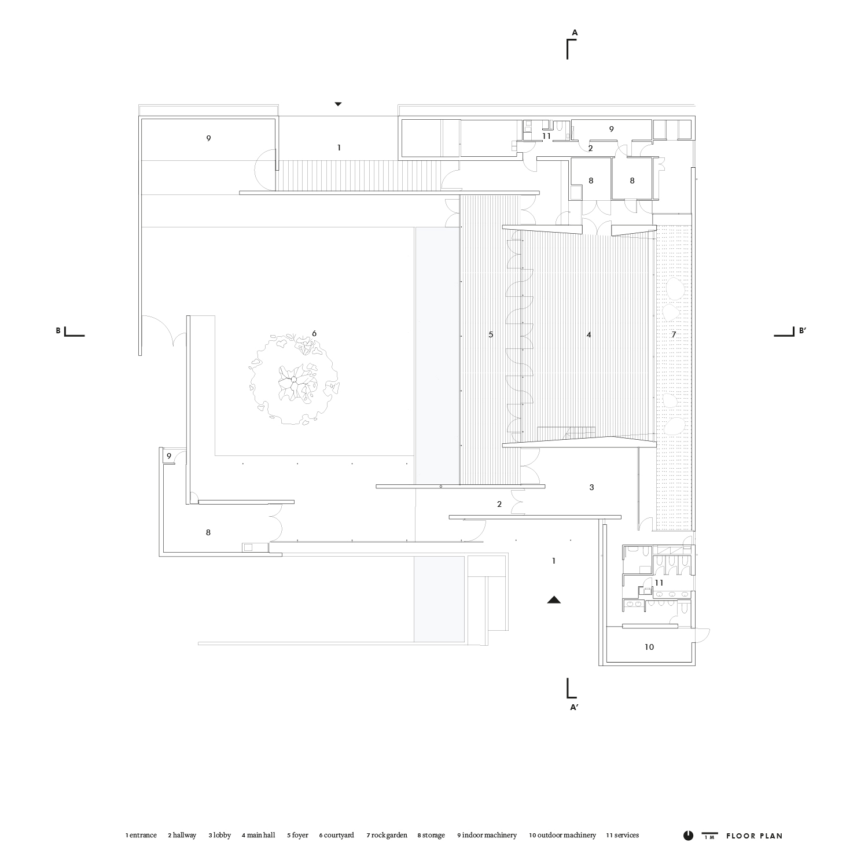 Floor plan Satoshi Okada architects Inc.}