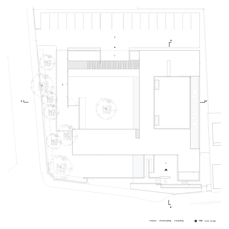 Site plan Satoshi Okada architects Inc.}