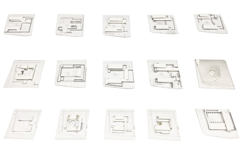 Design process: iteration models Satoshi Okada architects Inc.}