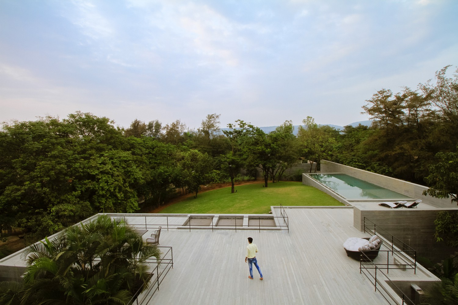 Panoramic view from first floor