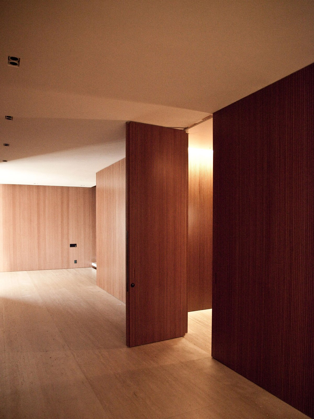 Hall - wooden pannel }