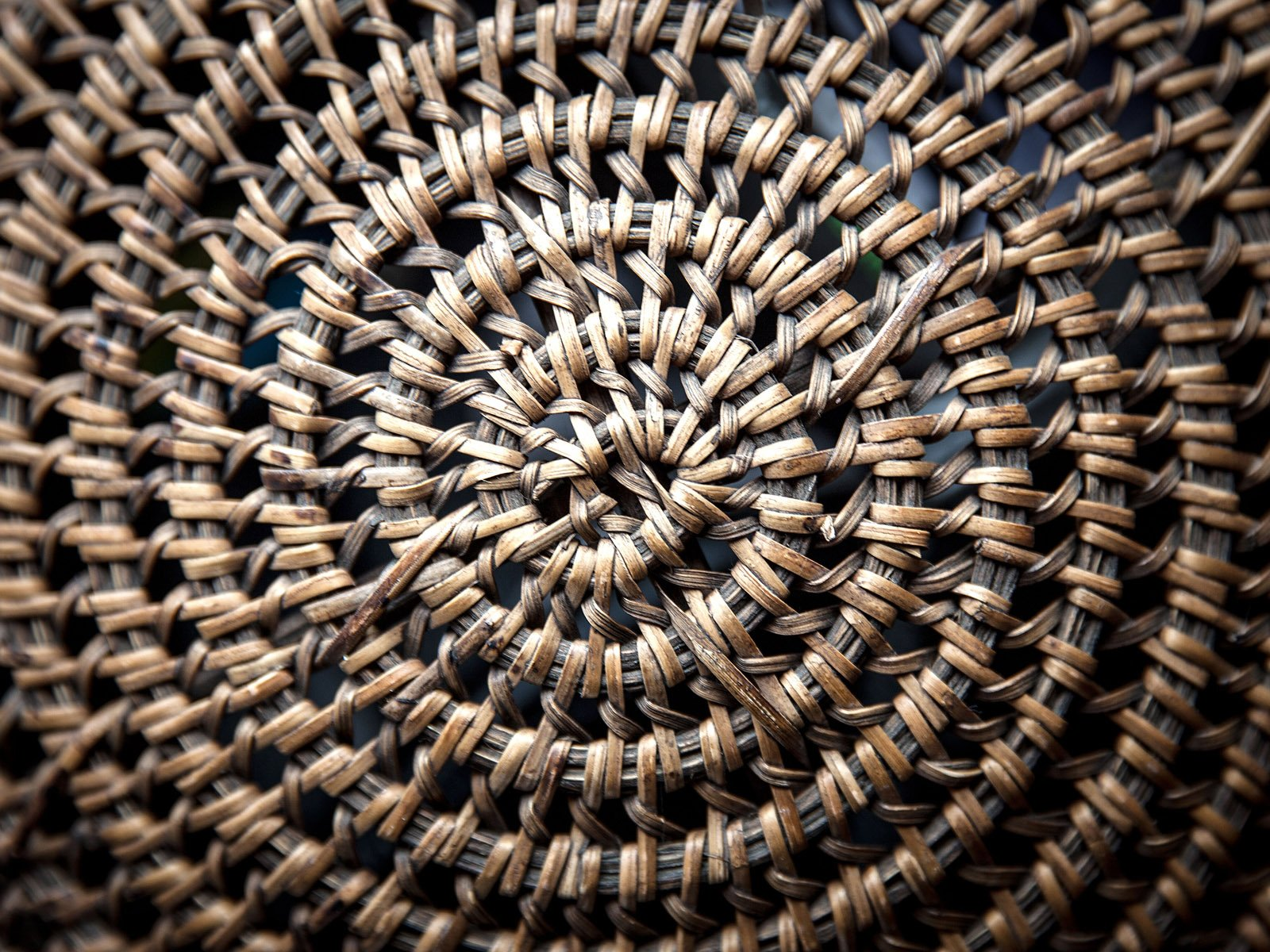 Detail - Indian basketry }