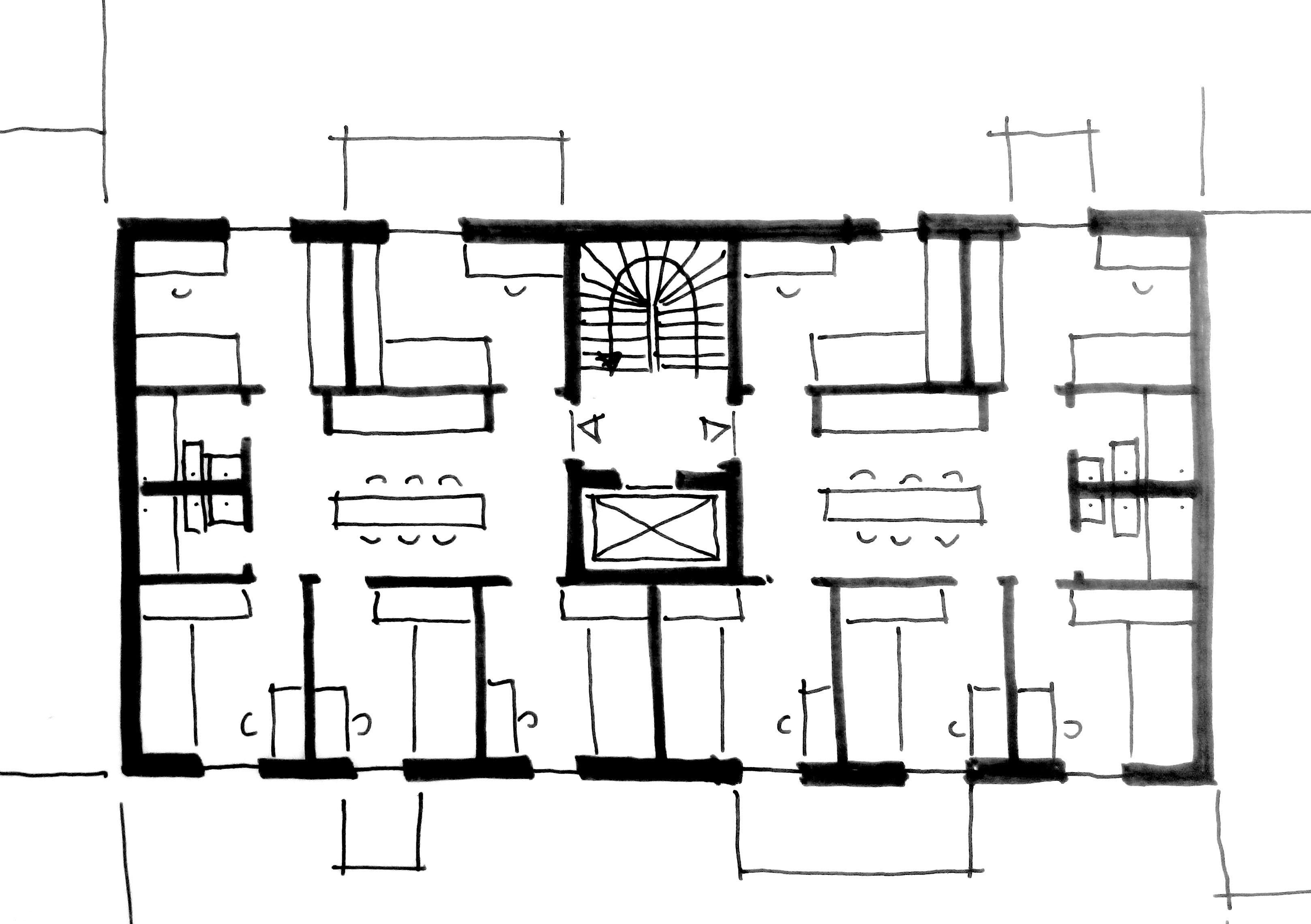 sketch floor plan SEHW Architektur}