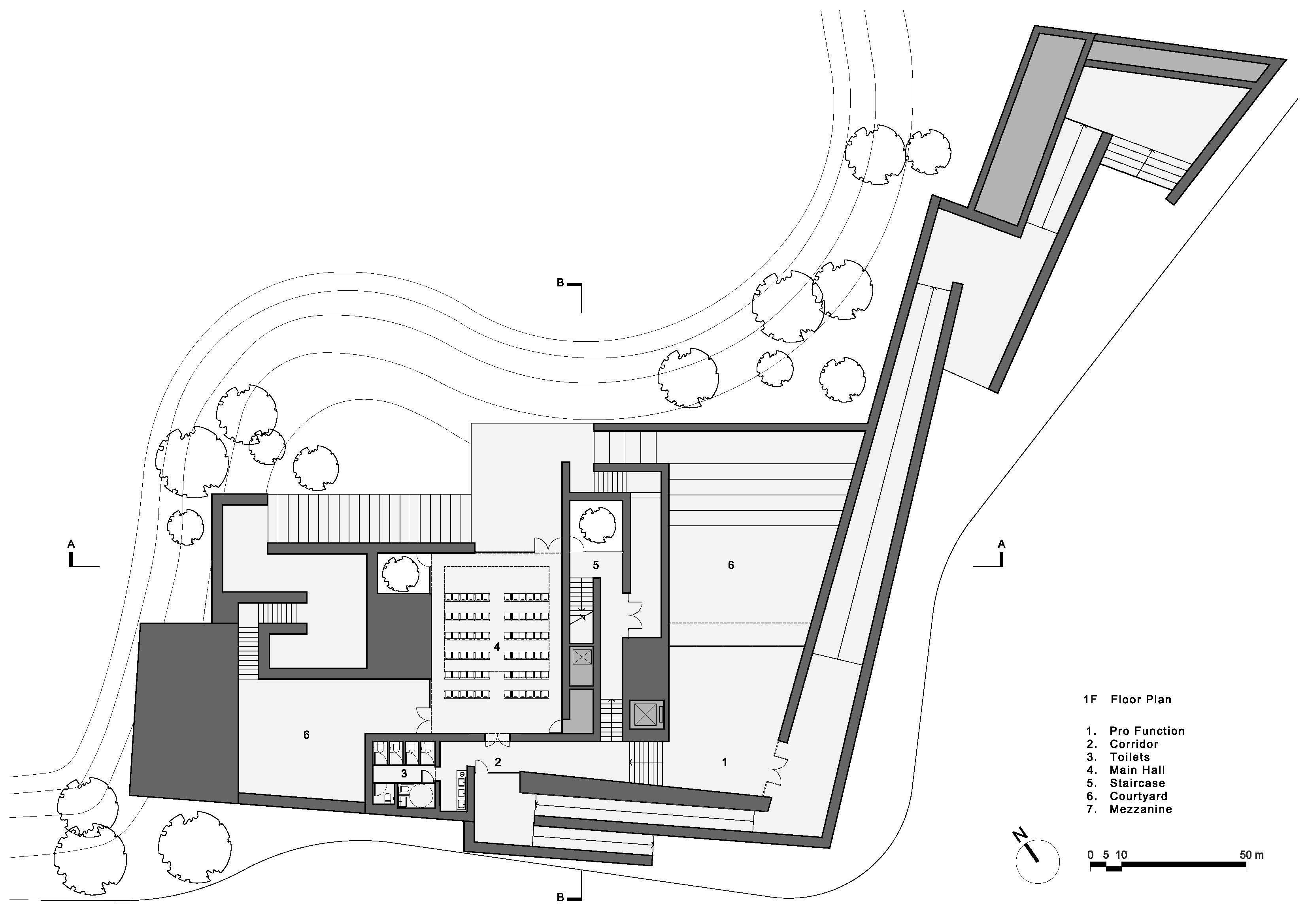 Souzhou Chapel floor plan 1 }