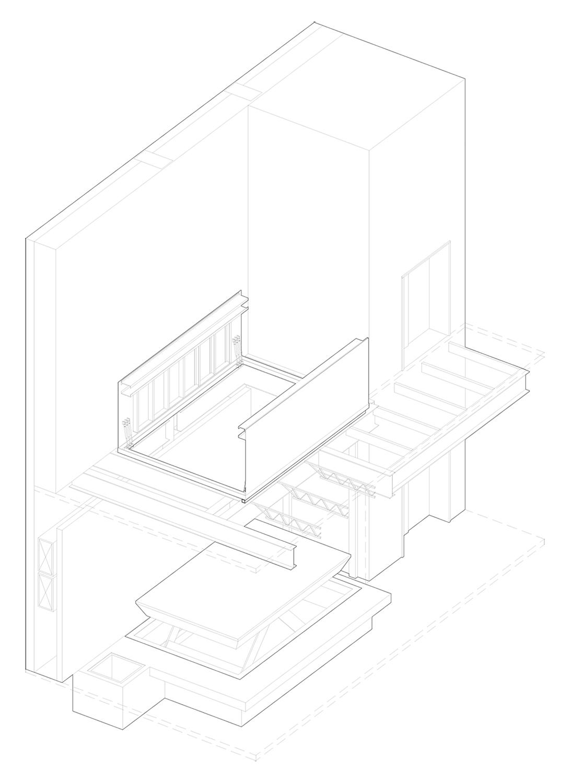 Scissor Lift Axonometric LTL Architects}