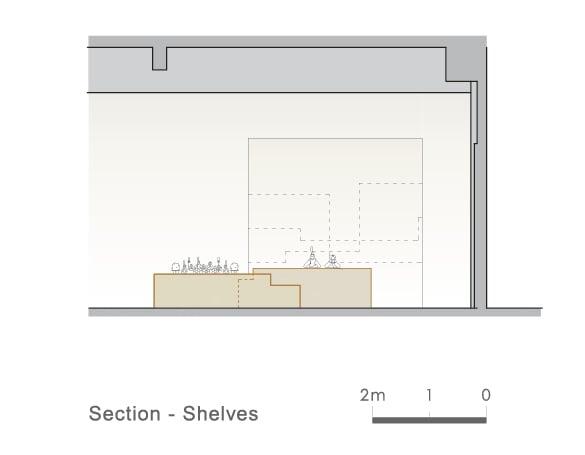 Section Shelves 1 Ryuichi Sasaki/Sasaki Architecture + Rieko Okumura/Atelier O}