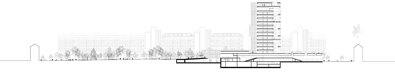 Cross section C.F. Møller Architects}