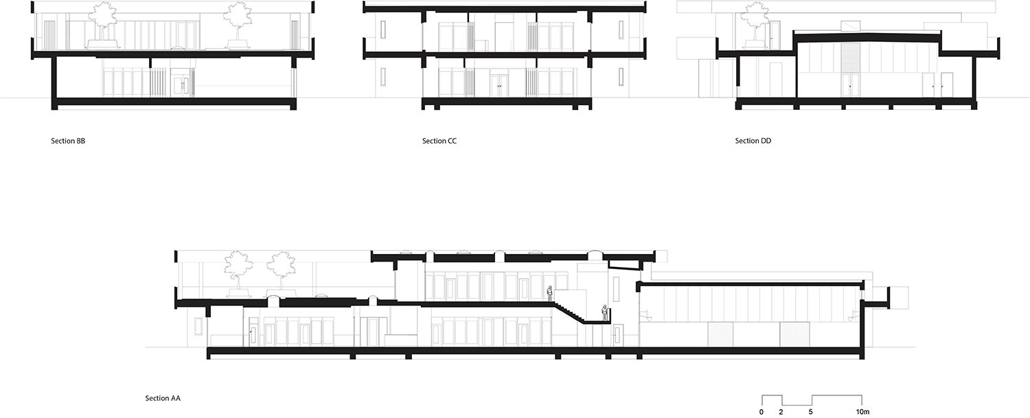 Sections of the school UArchitects}