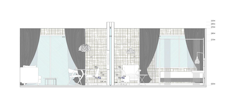 Prospetto-Sezione Suite Room 1:20 Studio KWG}
