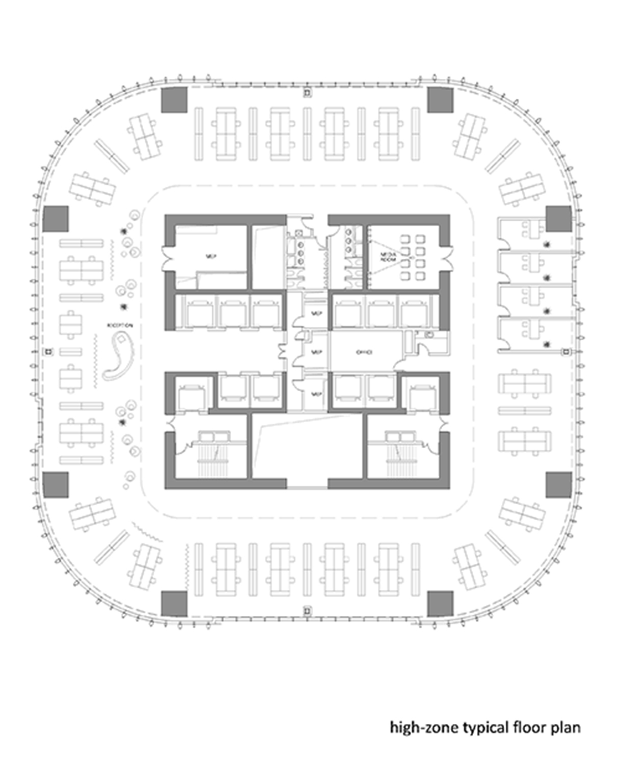 high-zone typical floor plan }