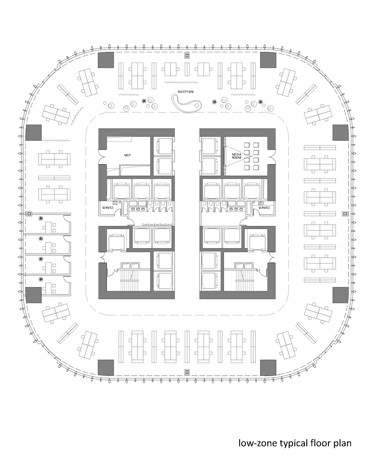 low-zone typical floor plan }